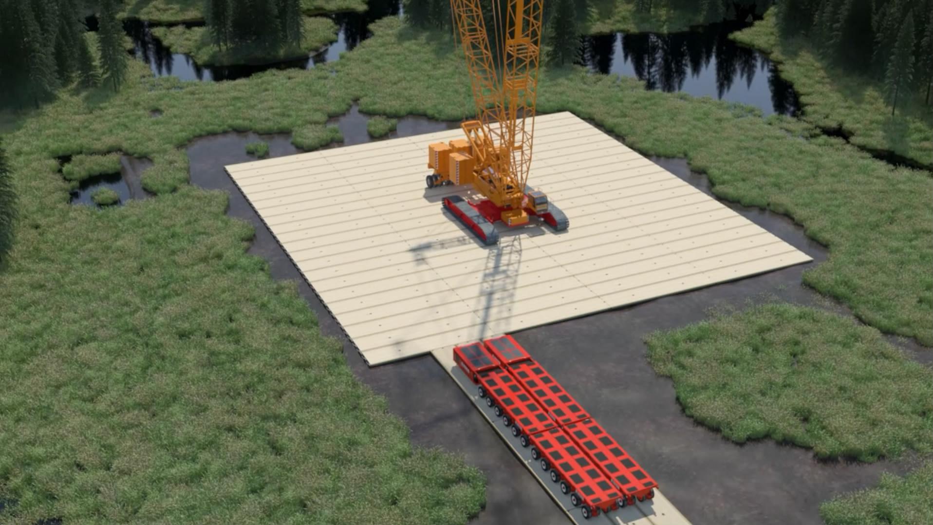 叉车起重机作业三维虚拟动画高清:三维虚拟演示动画制作