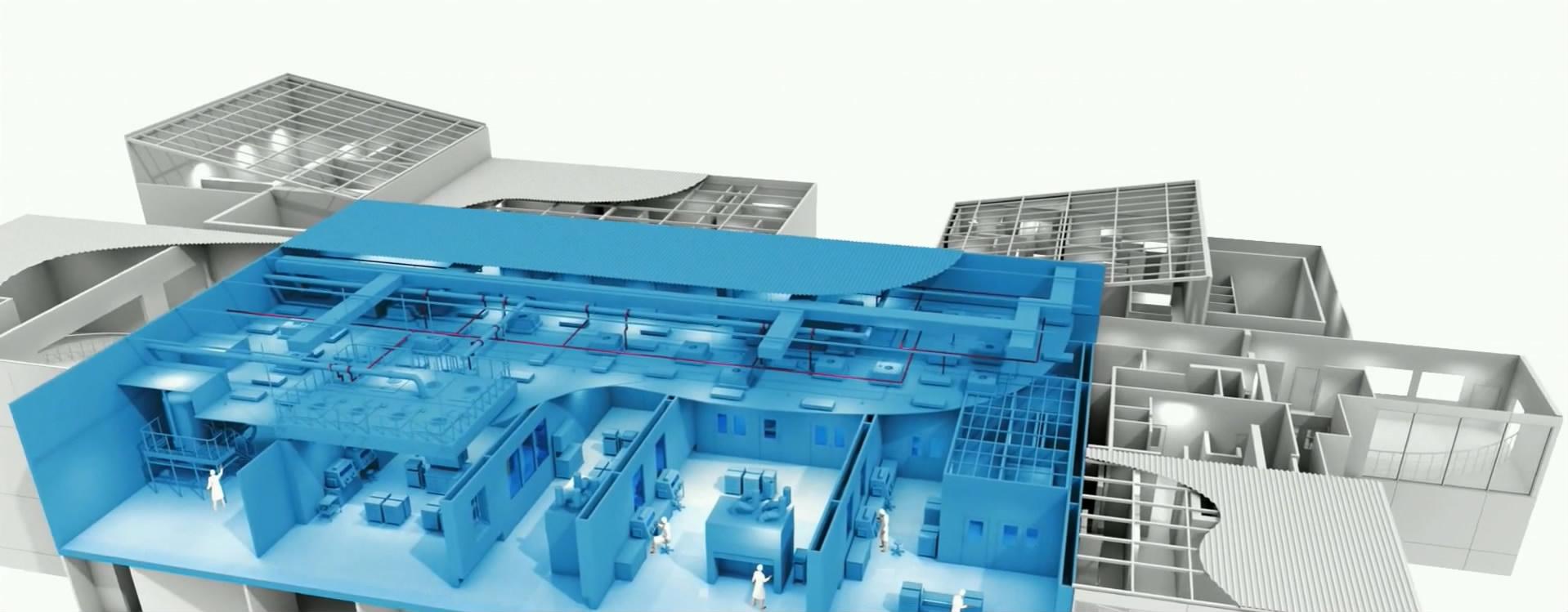 厂房剖面结构:工业建筑模拟动画制作、建筑漫游动画制作