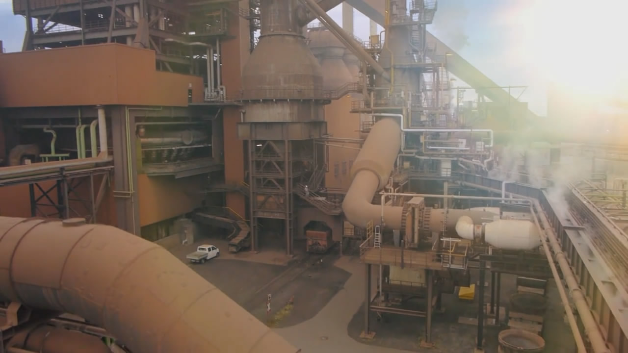 三维模拟演示 工厂大型机械实景动画结合