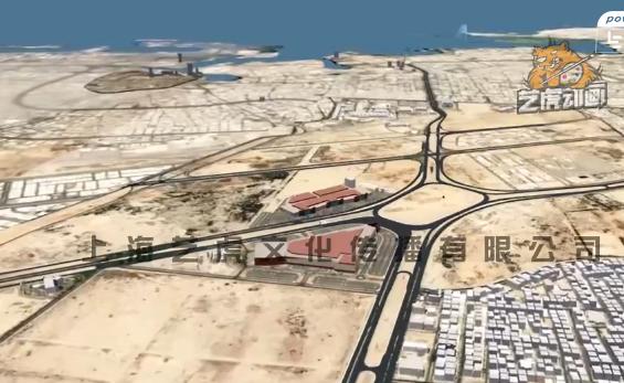 公路工程施工动画