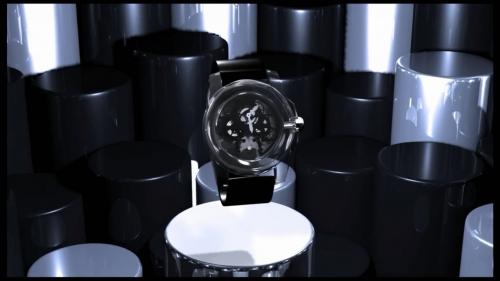 创意3D机械齿轮手表空间组合:3D机械装配动画制作