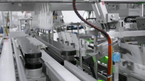 三维机械无人工厂食品加工生产车间动画制作