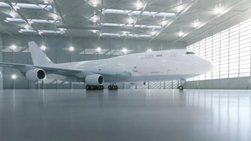 机械三维动画制作 飞机零件组装动画
